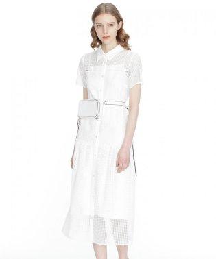 メッシュシャツドレス