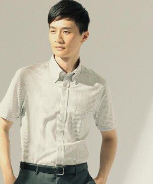 【COOLBIZおすすめ】クールマックス 鹿の子ストライプ 半袖シャツ