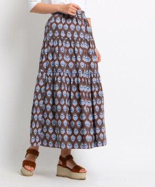 【洗える/GISELe6月号掲載】アフリカンバティック柄マキシ丈スカート