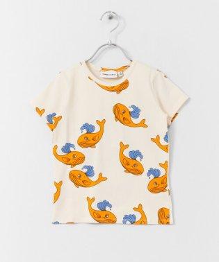 mini rodini Whale aop short-sleeve t-shirts(KIDS)