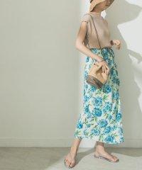 アイランドフラワープリントスカート