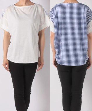 【一部店舗限定】McGコットン・リネン チェックコンビシャツ