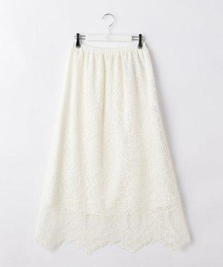ラッセルレースギャザーロングスカート
