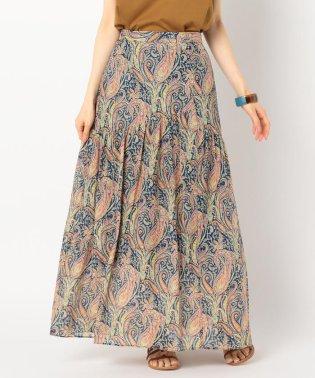 LIBERTY PRINT切り替えギャザースカート
