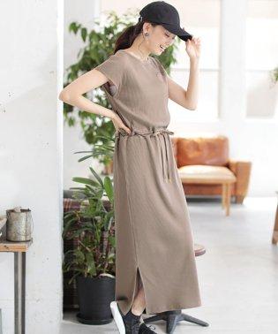 ★【MAGASEEK・d fashion別注】ドロストテレコリブマキシワンピース