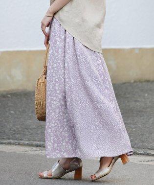 【WEB限定】大人っぽい&キレイめな小花柄切替スカート