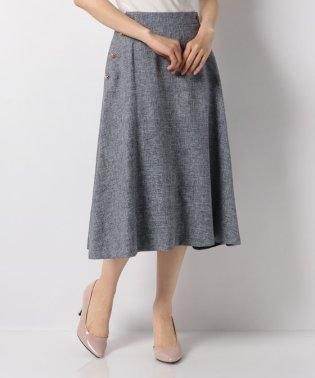 サイドゴールド釦付きスカート