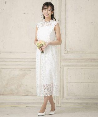 kaene/総レース マキシ丈ウェディングドレス
