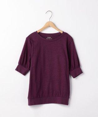 【先行販売】起毛スラブ5分袖Tシャツ
