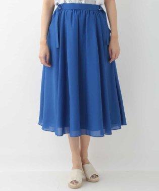 【洗える】サイドベルトボリュームスカート