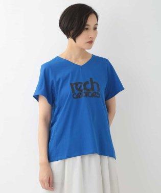 【洗える】ロゴVネックTシャツ