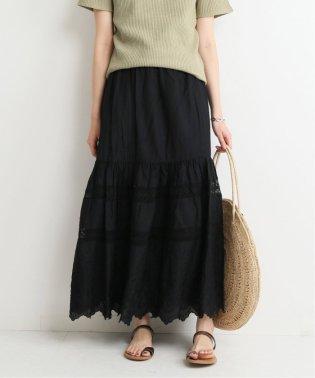 刺繍レースロングスカート