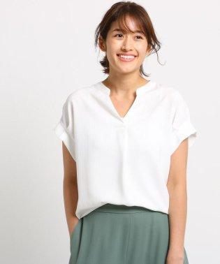 [L]【マシンウォッシュ/UV/接触冷感/吸水速乾】プルエラサテン ストライプシャツ