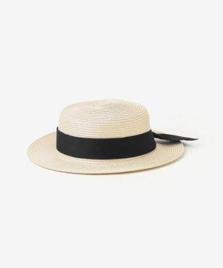シンプルリボンカンカン帽