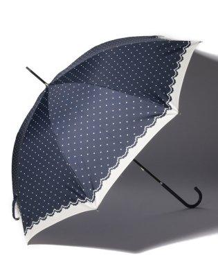シンプルドット長傘 雨傘