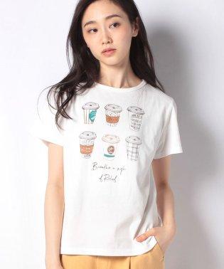 ドリンク柄コットンTシャツ
