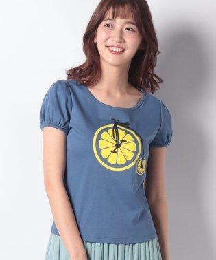 【洗える】レモンサイクルプリント Tシャツ