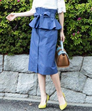 【3Way】【洗濯機で洗える】ペプラムタイトスカート&ビスチェワンピース
