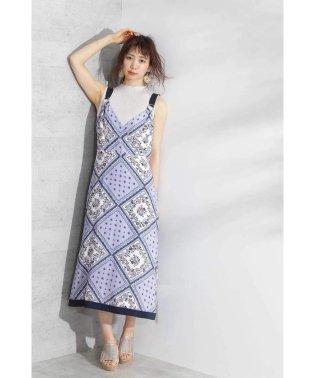 ◆スカーフパネルワンピース