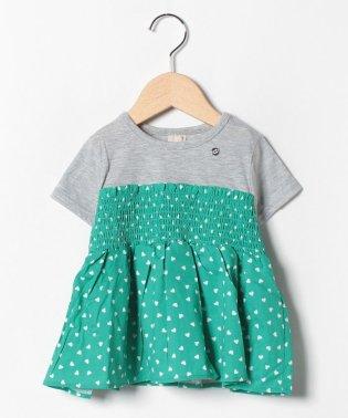 ハートチュニックドッキングTシャツ