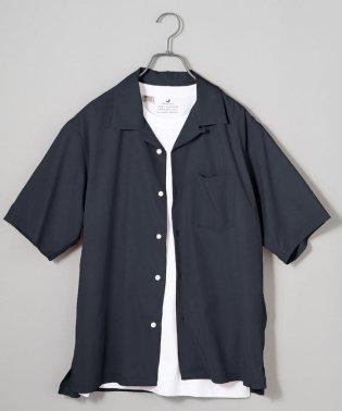 SHIPS JET BLUE: オープンカラー5分袖シャツ