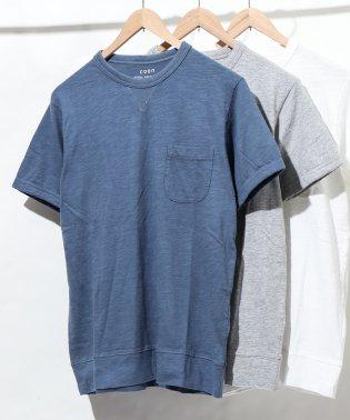 ガゼットスラブ半袖ポケットTシャツ