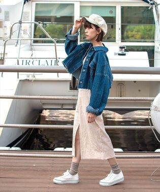 3rd(サード)リネン風スリットスカート-