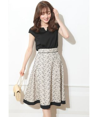 【美人百花7月号掲載】カットワーク刺繍スカートSET