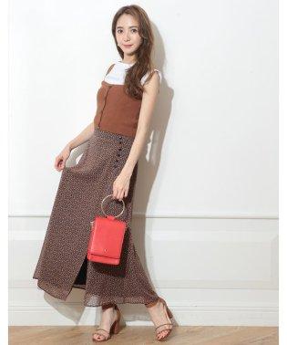 小花ラップ風ロングスカート