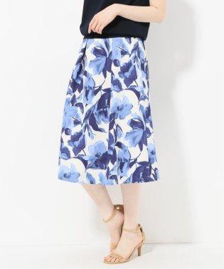 カラートーンフラワースカート