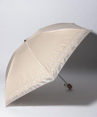 mila schon 晴雨兼用傘 ミニ傘 花刺繍 切継
