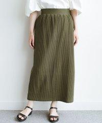 気軽にはいてもオンナっぽさを忘れない変わりワッフルタイトスカート by MAKORI