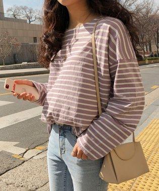 MICHYEORA(ミチョラ)デイリーストライプTシャツ-