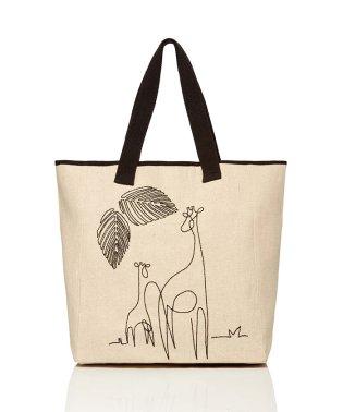 アニマル刺繍トートバッグ