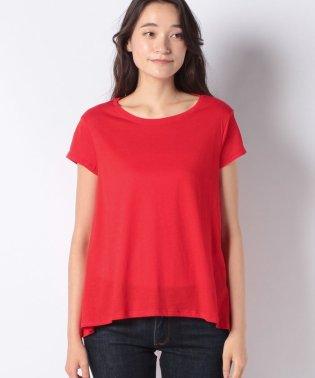 綿パネルフレアーライン半袖Tシャツ