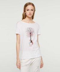 ラミネートプリント半袖Tシャツ