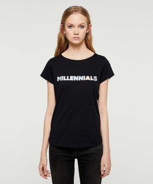 デジタルグラフィック半袖Tシャツ