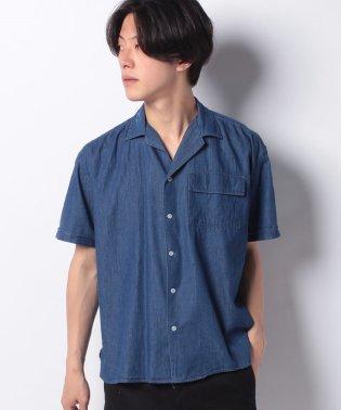 【BLUE STANDARD】デニムオープンカラーシャツ