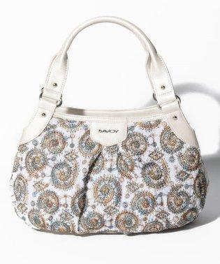 ペイズリー刺繍ハンドバッグ
