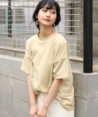 ◆ゆったりシルエット◆ラメプチハイネックTシャツ