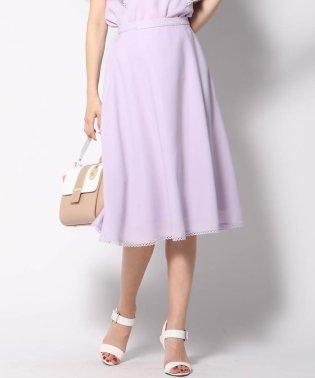 【大きいサイズ】裾ピコレースフレアスカート