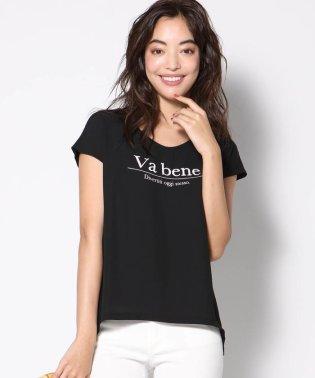 異素材使いロゴTシャツ