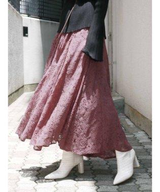 レースイレヘムデザインスカート