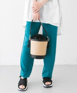 LEENA 異素材コンビバケツバッグ