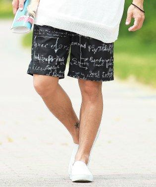 総柄ショーツ / ハーフパンツ メンズ ショートパンツ 短パン 膝上 総柄