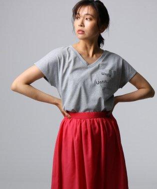RECOVER BLUE VネックTシャツ