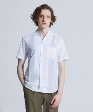 【展開店舗限定】リネンキーネック半袖シャツ