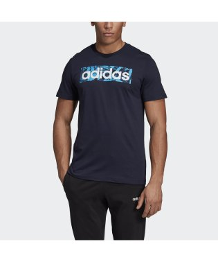 アディダス/メンズ/M CORE リニアロゴボックスグラフィックTシャツ