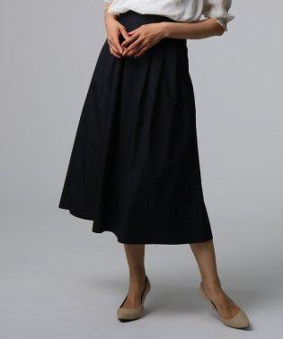 [L]【洗える】タイプライタータックロングスカート