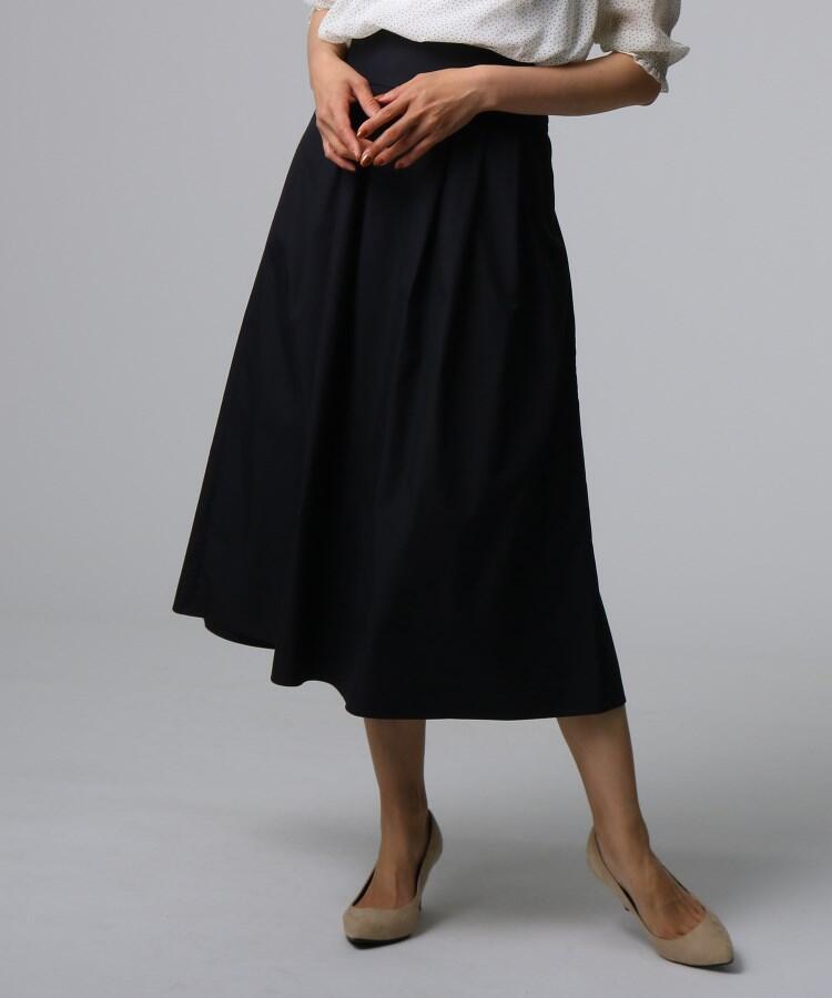 【洗える】タイプライタータックロングスカート